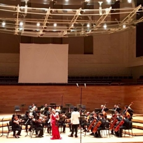 Performing a Mozart Violin Concerto with the Filarmonia in Veracruz, Mexico