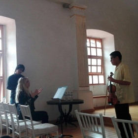Conducting Masterclasses at the Conservatory in Puebla, Mexico
