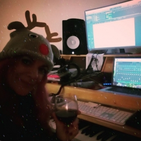 Holiday Cheers from my studio and my friend Logic x ! :)