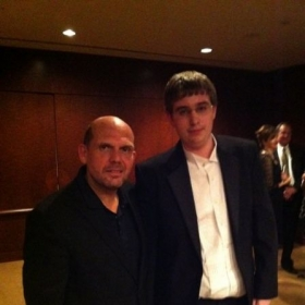 Meeting the Dallas Symphony Conductor, Jaap van Zweden - May 2011