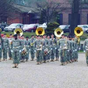 Performing a ceremony with the 8th army band