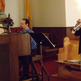 Performing at my local church for my grandparents renewal of their wedding vows