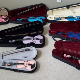 My students instruments that were rented out during my time teaching in GA