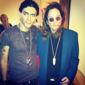 With Ozzy Osbourne