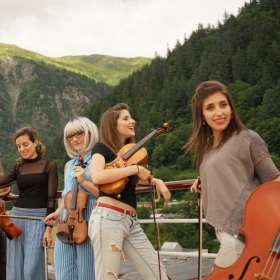 Photoshoot with ATLYS and Lil Sharp ( rapping violinist) in Juneau, Alaska