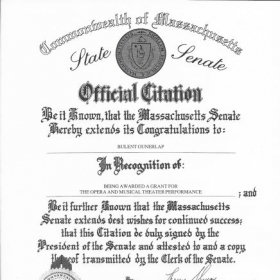 Massachusetts State Senate, Official Citation