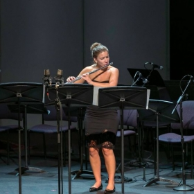 Performing Robert Dick's Lookout for Solo Flute at CSU Summer Arts