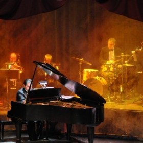 """Here I am playing for a production of """"Ain't Misbehavin'"""" at the Wayne Densch Performing Arts Center in Sanford, FL."""