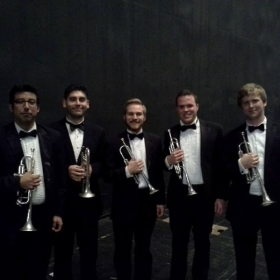 After performing 'La Mer' by Claude Debussy with Indiana University's Concert Orchestra.