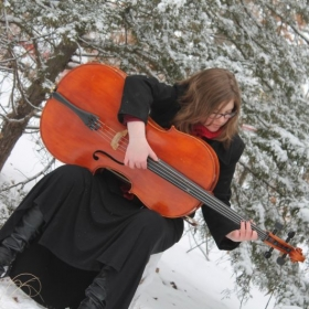 One of my favorite things to do, is strum on my cello. :D