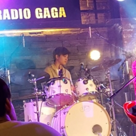 Playing at Radio Gaga in Hongdae, South Korea
