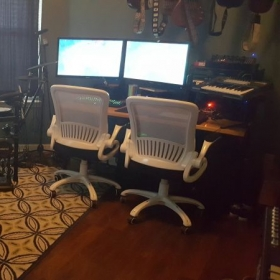 Right side of home studio