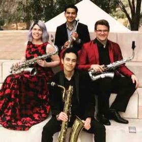 I play tenor saxophone in the awarding winning Zēlos Quartet