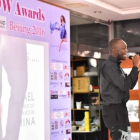 My student Nuel performing at WOW Awards in Beijing, China