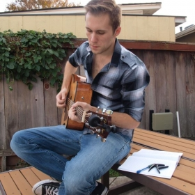 I always find songwriting outside to be relaxing