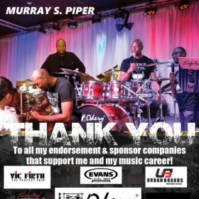 All my endorsement & sponsor companies. Vic Firth, Evans, Odery Drums, Urban Boards, Sledgepad, Stick Pro, Sabian, Jam Tec, Rhythm Band