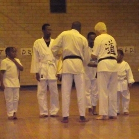 Me getting my yellow belt