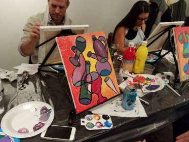 Having fun at my 1/6/18 paint party