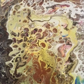 Love experimenting: Acrylic Paint Pouring