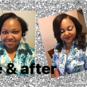Before & After I really enjoyed doing this beauty makeup 💄