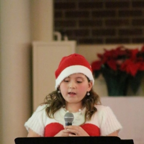 Singing a Christmas Favorite