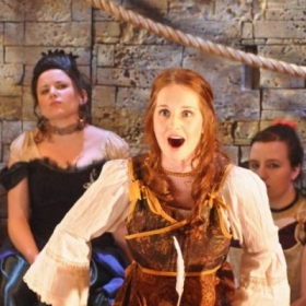 "Erin as Lucy Lockit in ""The Beggar's Opera"""
