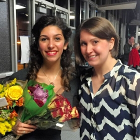 Sarah and I after her school's production of Grease!