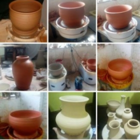 some more greenware, I made in China