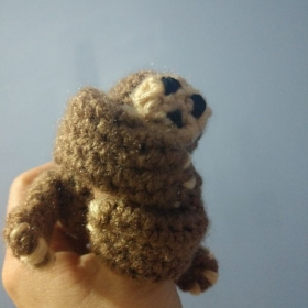My friend's daughter loves sloths so I made her a little friend.