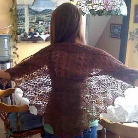 Lace shawl with local alpaca lace yarn