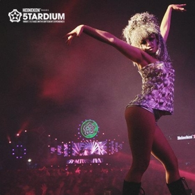 Performing at Heineken 5tardium in Seoul, South Korea