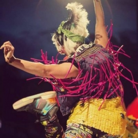 Performing with Bubble Gutter at Shambhala Music Festival in Canada