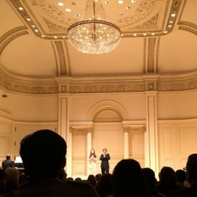 Concert at Carnegie hall