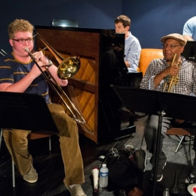 rehearsing for the 2015 Marciac Jazz Festival with the Wynton Marsalis Septet