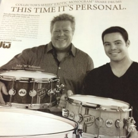 Add Campaign with DW drums featuring myself, and JR Robinson of Michael jackson.