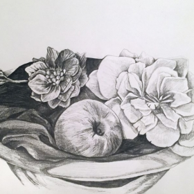 Classical pencil still life