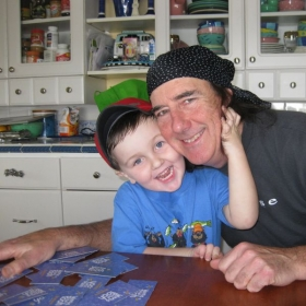Hanging out with my grandson, Timmy