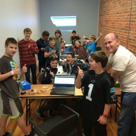 Coding WINK Robots with C at our Winter Break Camps