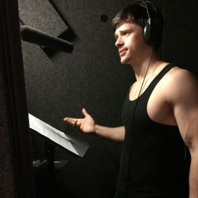 Candid Photo from a Voiceover Project