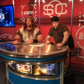 Behind-the-Scenes on the set of Sports Center (ESPN)