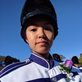 My last marching band competition.
