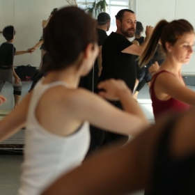 Class at Battery Dance Company