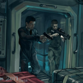 "Digital Painting from a reference from the show ""The Expanse"""