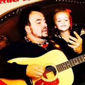 Singing with my niece. She has an amazing voice!