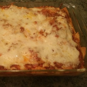 Homemade Lasagna with home noodles