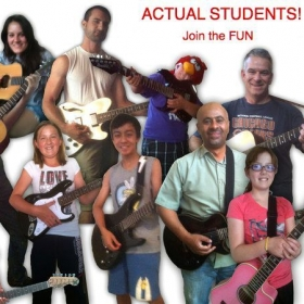 A composite photo I made of some of my current students!