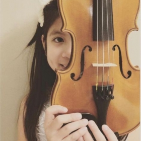 A Cute Little Violinist who happens to be my student!