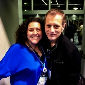 World renowned jazz drummer Dave Weckl and Francesca workin' the NAMM show.
