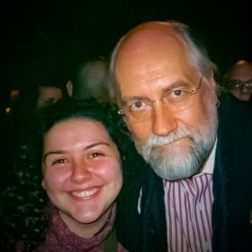 Mr. Fleetwood helped me work the room after the show <3
