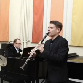 Playing at the recital